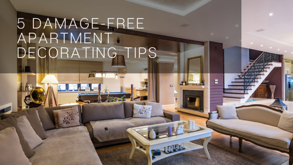 5 Damage-Free Apartment Decorating Tips